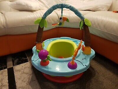 Summer Infant Deluxe Super Seat Island Giggles Booster snug Seat feed play tray
