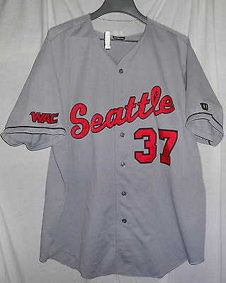 the latest 20239 4bb64 #37 SEATTLE UNIVERSITY Redhawks Game Used worn NCAA WAC Baseball Jersey