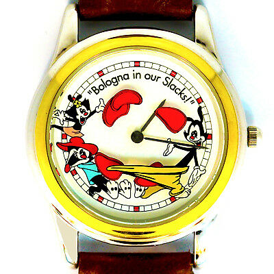 Animaniacs 'Bologna in our Slacks' Animated, W-B By Fossil, New Unworn Rare $129
