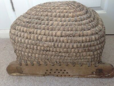 Bee Skep Antique French - Late 19th Century - VERY RARE AND SUPERB DECORATIVE