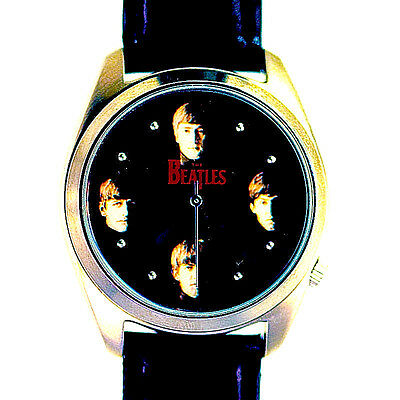 Beatles Collectible Fossil Mans Boxed Watch Numbered X Of 10K Leather Band! $189