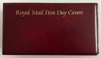 Royal Mail First Day Covers Album - 2 Hole Ringed Binding - Dark Red Soft Cover