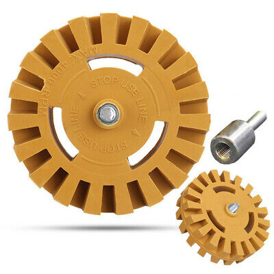 1 Pack Rubber Eraser Wheel & Drill Adapter Adhesive Remover Tool Car Vinyl Decal