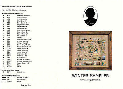 "Kreuzstichvorlage, Sara Guermani ""Winter Sampler"""