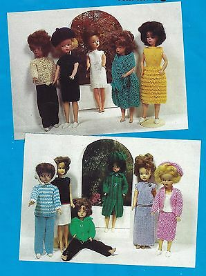 11 Sindy Size Doll  Dolls Clothes Outfits Knitting Patterns  4 Ply  (1357)