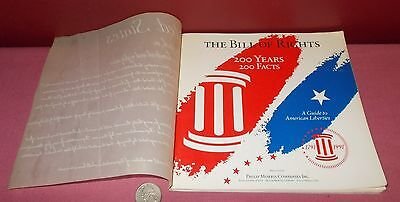 1990 Phillip Morris THE BILL OF RIGHTS Paperback Book 200 Years 200 Facts ^