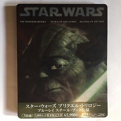 Star Wars Trilogy Prequels BluRay Steelbook Japan