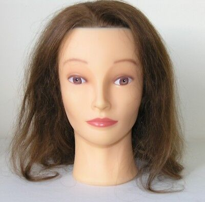 Female mannequin head real human hair for styling training, display etc, unused