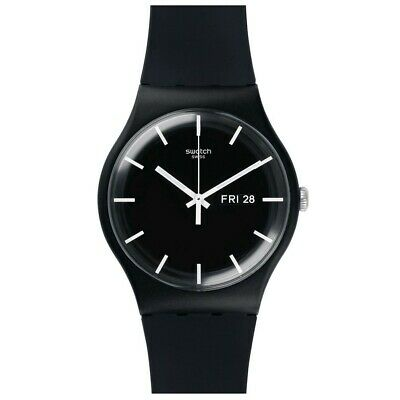 Swatch New Gent SUOB720 Mono Black blanco y negro