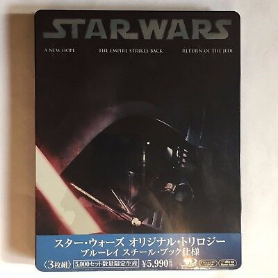 Star Wars Trilogie 4, 5, 6 - Bluray Steelbook Japan
