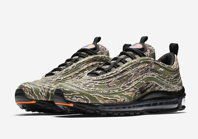 cf0bcc42bf 2017 Nike Air Max 97 Premium QS SZ 8.5 Medium Olive Country Camo USA AJ2614-