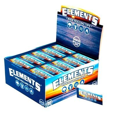 Elements Wide Roach Chemical Free Roll Paper Filter Tips Card Booklet