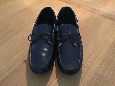 480ab644dea ZARA LEATHER LOAFERS WITH CONTRAST SOLE - Men s Blue Suede Driver ...