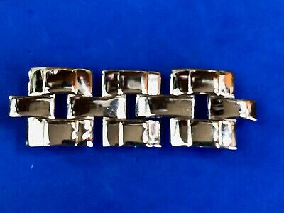 Vintage Signed  two piece abstract Art Deco gold tone belt buckle