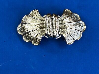 Vintage  Gold tone Abstract retro - bow tie  two piece belt buckle