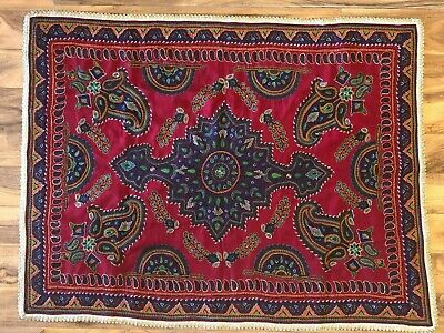 Pateh Persian Kerman Textile Embroidery art rug carpet hand made پته.