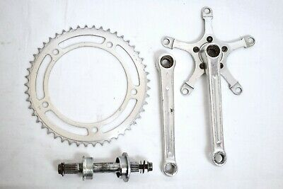 RARE 1960s WILLIAMS AB77 ALLOY SPLINED BICYCLE CRANKSET, WITH 49T RING & BB