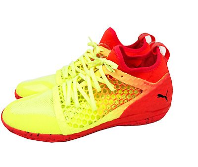 quality design 24d42 31a95 Puma Men s 365 IGNITE NETFIT CT Indoor Soccer Shoes Yellow Red Black 104704-