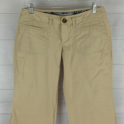 37dfad008b Old Navy Womens Size 6 Solid Beige 100% Cotton Low Rise Bootcut Khaki Pants  EUC