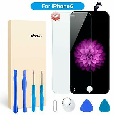"""For iPhone 6 Black 4.7"""" Screen Replacement Digitizer LCD Home Button Camera UK"""