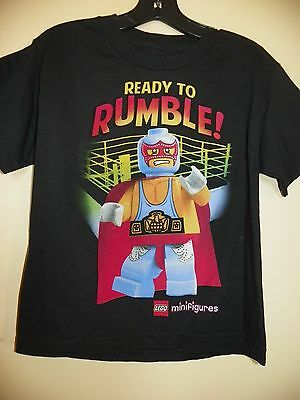 LEGO MINIFIGURES//READY TO RUMBLE-BOYS 8 /& 14//16-LICENSED SHORT SLEEVE-NWOT