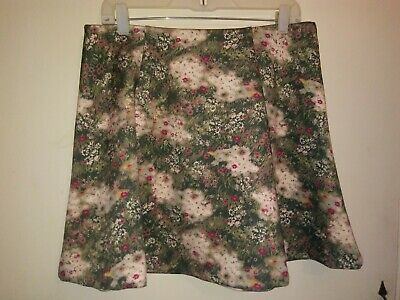 Skirts Women's Clothing Lauren Conrad Size S Scuba Skirt Disney Bambi Collection Floral Circle Pull On