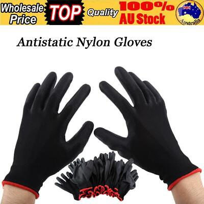 24Pcs Nylon Fabric PU Material Gloves Mechanical Workshop Factory Gardening