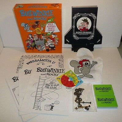 Bullwinkle and Rocky RPG Role Playing Party Game - VTG 1988 by TSR - COMPLETE