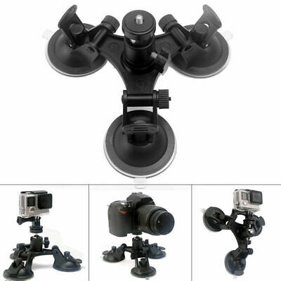 Tripod Mount Triple Suction Cup Car Windshield For Sony SJ GoPro DSLR SLR Camera