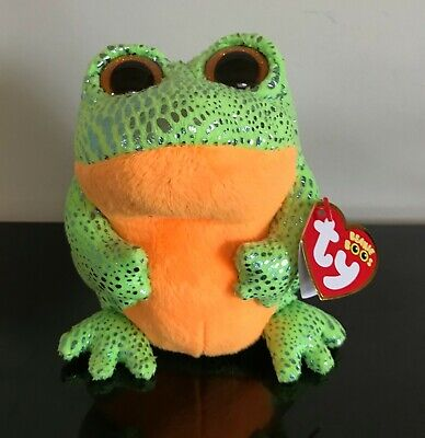 f5c560f089e TY BEANIE BOO Frog named Speckles with Red Tag Perfect Condition ...