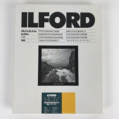 14 Sheets Ilford MGIV Multigrade IV RC De Luxe Satin 8x10 Photo Paper, Pre-owned
