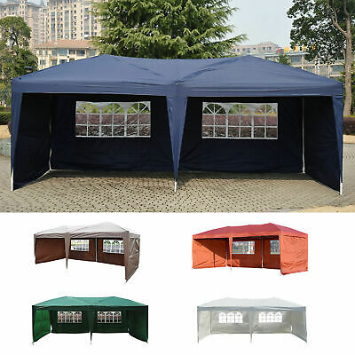 Outdoor 10'x20' EZ POP UP Gazebo Wedding Party Tent Canopy Folding w/ Carry Bag