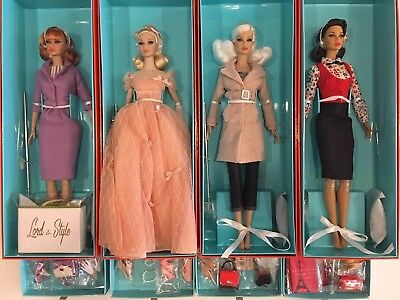 2018 City Sweetheart Poppy Parker Complete Collection Of 4 Dolls - Nrfb