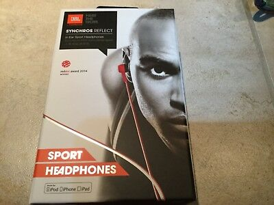 ae796a4c74a New OEM JBL Synchros Reflect RED In-Ear Sport Headphones...in Line