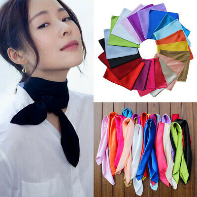 Fashion Women Lady Square Satin Silk Scarf Bandana Neckerchief Scarves 60X60cm
