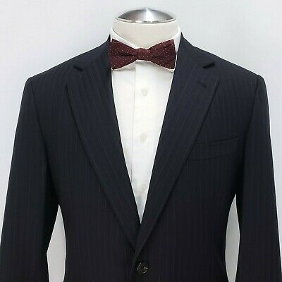 Brooks Brothers Suit Jacket Golden Fleece Stripe Tonal Herringbone Wool 2Btn 40R