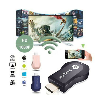 AnyCast HDMI WIFI Dongle Fernsehstock 1080P DLNA Airplay Chromecast Empfänger
