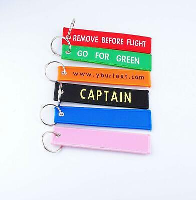 Embroidered Key Tags Custom Keychain Linen Woven Luggage Tag Personalized