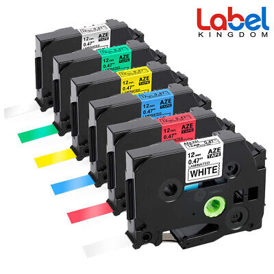 6 PK Compatible Brother p touch label tape TZ TZe-231 431 531 631 731 931 12mm..