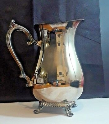 Vintage Silver-plate Footed Water Pitcher - Wm. Rogers 817