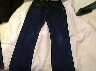 Next boys straight superior quality used jeans aged 9  134cm 100% cotton vgc