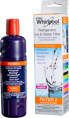 4 Pack-Whirlpool-Filter 2-Every Drop-EDR2RXD1-W10413645A-Water Filter Cartidge