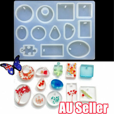 12 Silicone Mould Pendant Jewelry Making Necklace Mold Craft DIY Resin Round RK