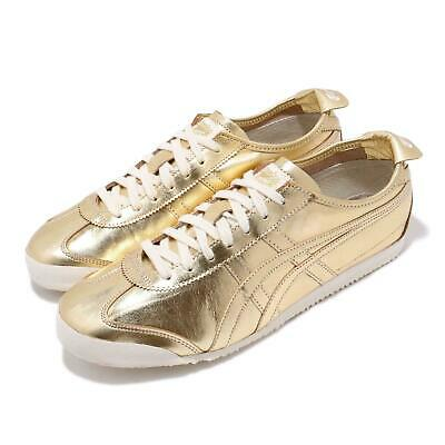 new concept 8f336 6bd3d ASICS ONITSUKA TIGER Mexico 66 Gold White Men Running Shoes Sneakers  D6G1L-9494