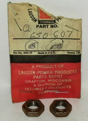 New Tecumseh Lauson Power Products Nut Lot Of 2 Part No. 650607