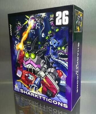 Mech Fans Toys Transformers MFT MF26 Sharkticon Set Toys In Stock