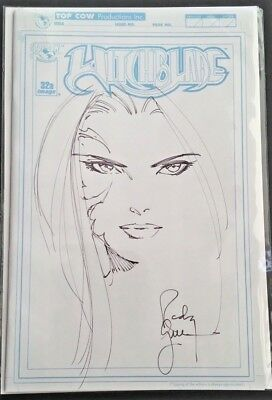 Top Cow Witchblade #32A Sketch Cover Variant Signed/Sketch By Randy Green