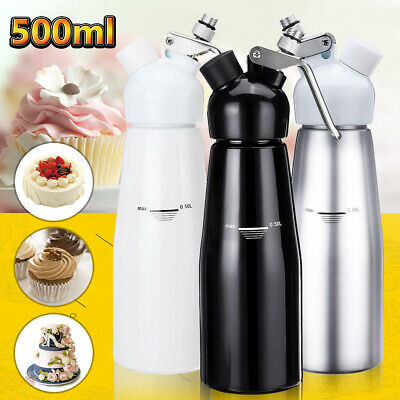 AU 500ml Cream Butter Dessert Cake Whipper Whip Coffee Whipped Dispenser Foam