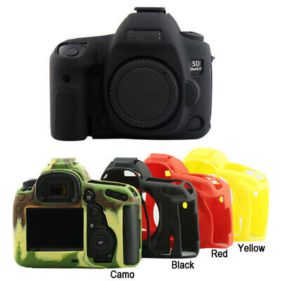 Black Silicone Rubber Cover Case Skin Protector For Canon Eos 5D Mark IV III 5D4