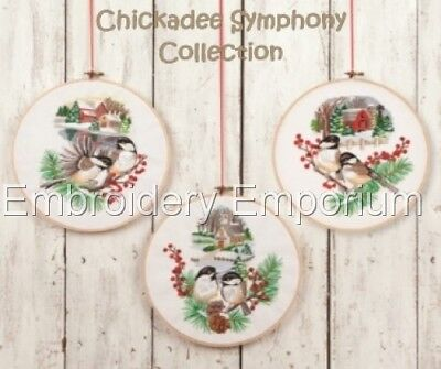 Chickadee Symphony Collection - Machine Embroidery Designs On Cd Or Usb
